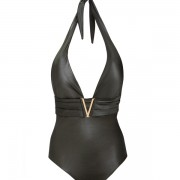 'GLOSSY' ONEPIECE SWIMSUIT IN METALLIC STYLE