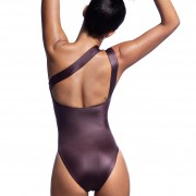 'GLOSSY' ONE SHOULDER ONEPIECE SWIMSUIT IN METALLIC STYLE