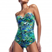 'PEACKOK' STRAPLESS ONEPIECE SWIMSUIT IN CUP D
