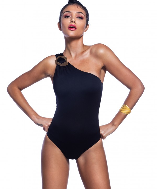 'FASHION' ONE SHOULDER ONEPIECE SWIMSUIT