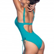 'SOLIDS VITA'  ONE COLOR ONEPIECE SWIMSUIT IN SIDE CORDS