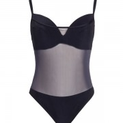 'SOLIDS' BLACK ONEPIECE SWIMSUIT IN CUP D