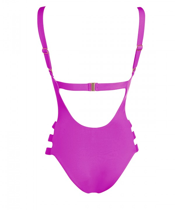 'SOLIDS' ONEPIECE SWIMSUIT IN SIDE CUTOUTS