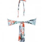 'HYBISCUS' STRAPLESS FLORAL PRINTED BIKINI TOP
