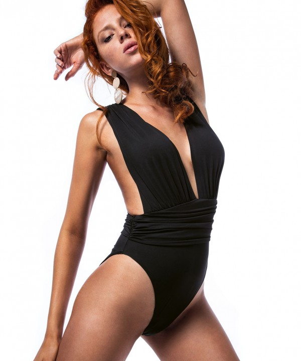'ARTEMIS' ONEPIECE SWIMSUIT IN CROSSED BACK