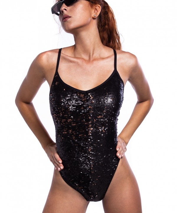 'SPARKLE' ONEPIECE SWIMSUIT IN ALLOVER SEQUINS
