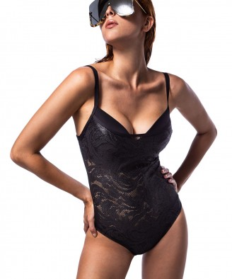 'BLACK LACE' ONEPIECE SWIMSUIT IN CUP D