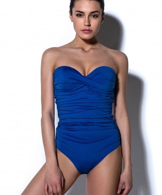'SOLIDS' STRAPLESS ONEPIECE SWIMSUIT IN CUP D
